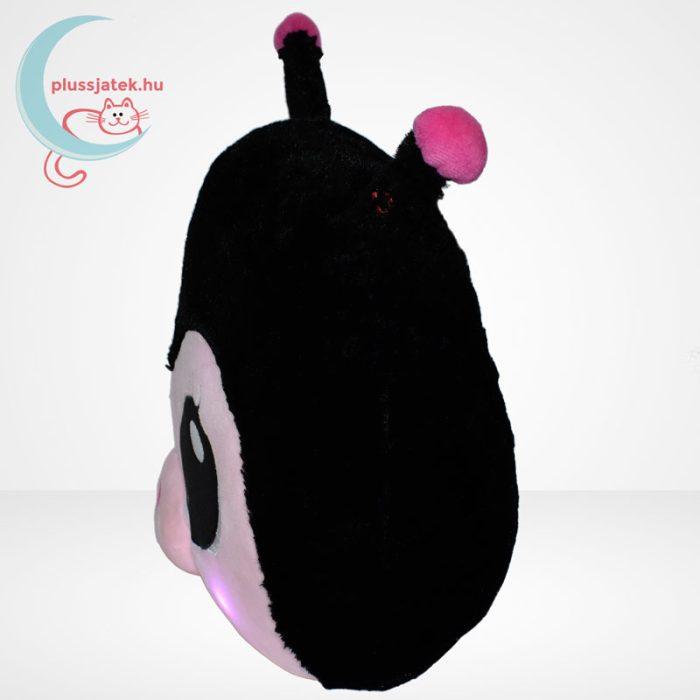 Lullabrites zenélő plüss párna - fekete katica, oldalról