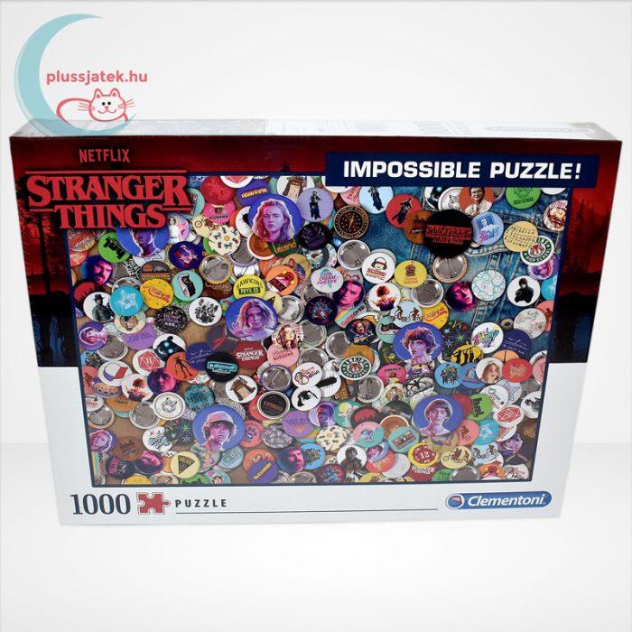 Stranger Things - A lehetetlen puzzle (Clementoni Impossible 1000 db-os kirakó), szemből