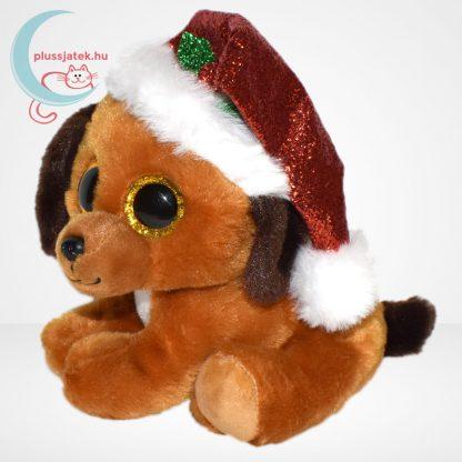 TY Beanie Boos Howlidays csillogó szemű karácsonyi plüss kutya, balról