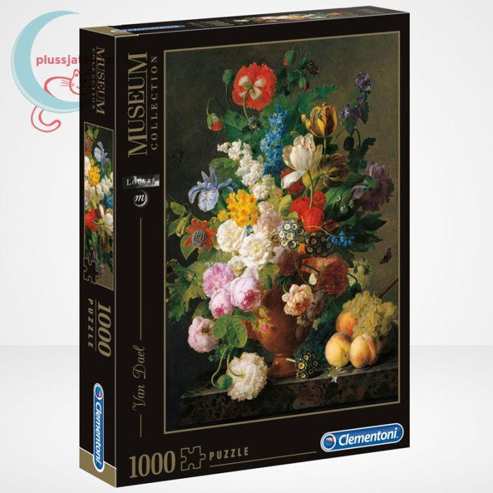 Van Dael - Csendélet (Bowl of flowers) 1000 db-os puzzle, Clementoni Museum Collection 31415