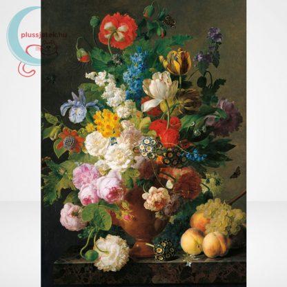Van Dael - Csendélet (Bowl of flowers) 1000 db-os puzzle, Clementoni Museum Collection 31415, a kép