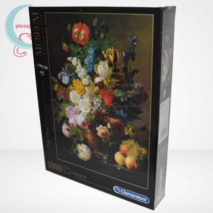 Van Dael - Csendélet (Bowl of flowers) 1000 db-os puzzle, Clementoni Museum Collection 31415, balról