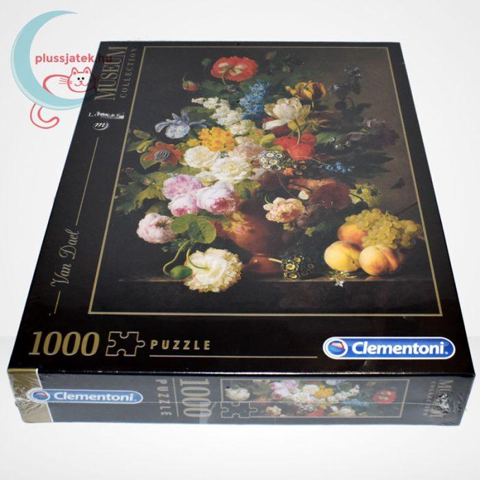 Van Dael - Csendélet (Bowl of flowers) 1000 db-os puzzle, Clementoni Museum Collection 31415, oldalról