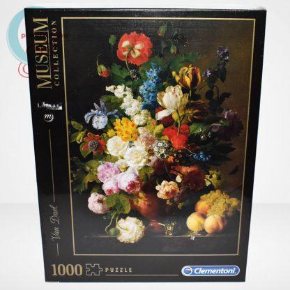 Van Dael - Csendélet (Bowl of flowers) 1000 db-os puzzle, Clementoni Museum Collection 31415, szemből