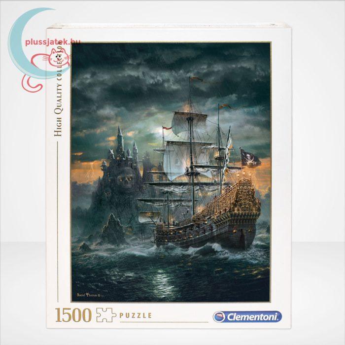 Clementoni 31682 - A kalózhajó (The Pirate Ship) 1500 db-os puzzle, szemből