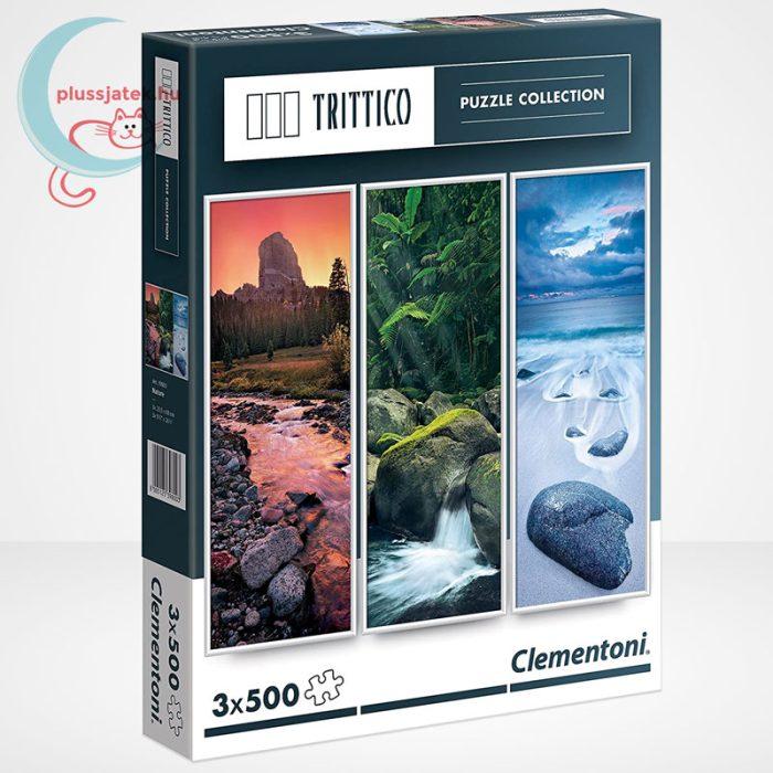 Clementoni 39800 - Természet (Nature) 3 az 1-ben, 3x500 db-os Trittico Puzzle