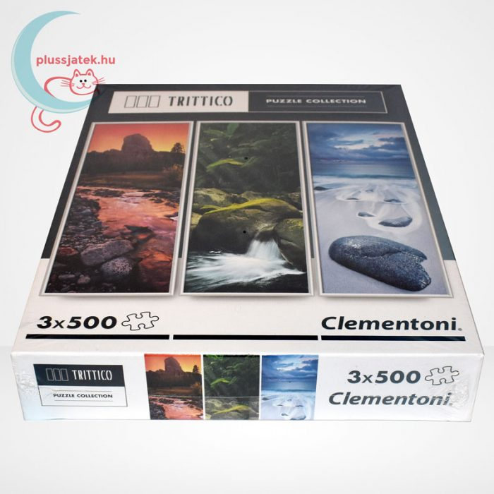 Clementoni 39800 - Természet (Nature) 3 az 1-ben, 3x500 db-os Trittico Puzzle, oldalról