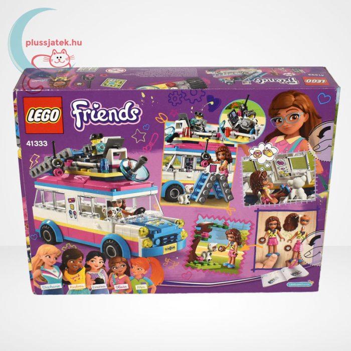 LEGO Friends 41333 - Olivia különleges felderítő járműve, hátulról