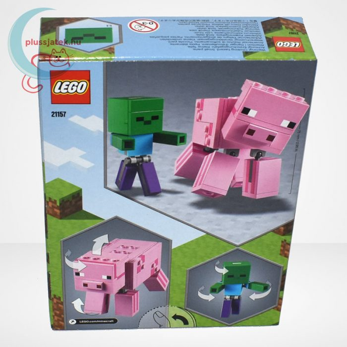 LEGO® Minecraft 21157 - BigFig Malac Zombibabával, hátulról