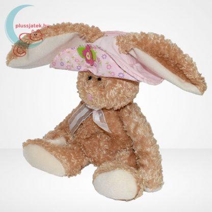 TY Beanie Babies - Sunbonnet plüss nyuszi virágos kalapban, balról