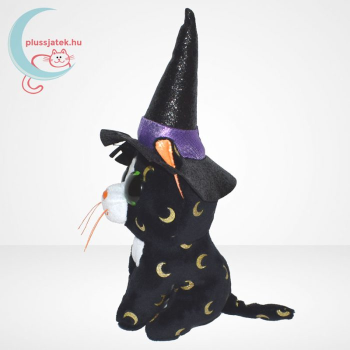 TY Beanie Boos - Pandora a boszorkány plüss cica, oldalról