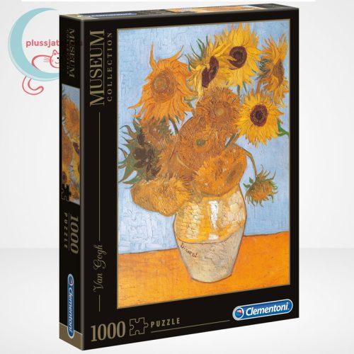 Van Gogh - Váza tizenkét napraforgóval (Sun Flowers) 1000 db-os puzzle, Clementoni Museum Collection 31438
