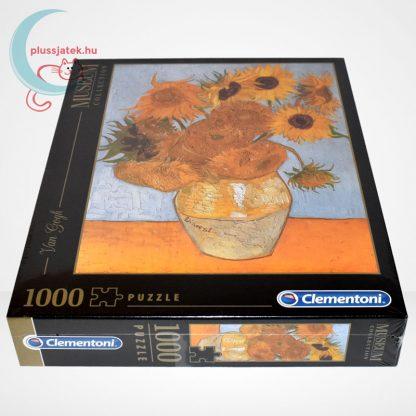 Van Gogh - Váza tizenkét napraforgóval (Sun Flowers) 1000 db-os puzzle, Clementoni Museum Collection 31438, oldalról