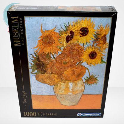 Van Gogh - Váza tizenkét napraforgóval (Sun Flowers) 1000 db-os puzzle, Clementoni Museum Collection 31438, szemből