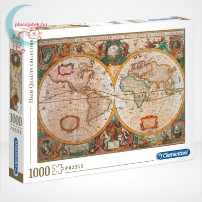 Antik térkép 1000 db-os puzzle (Old Map, Clementoni 31229 - High Quality Collection)