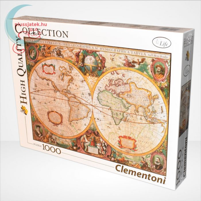 Antik térkép 1000 db-os puzzle (Old Map, Clementoni 31229 - High Quality Collection), balról