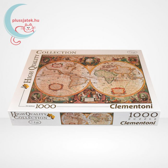 Antik térkép 1000 db-os puzzle (Old Map, Clementoni 31229 - High Quality Collection), oldalról
