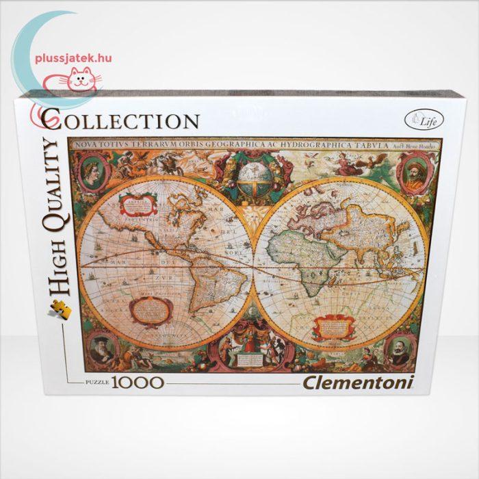 Antik térkép 1000 db-os puzzle (Old Map, Clementoni 31229 - High Quality Collection), szemből