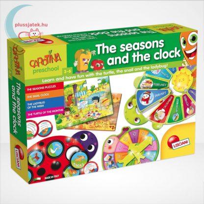 Carotina Preschool - The seasons and the clock (A természet körforgása) 4 az 1-ben angol fejlesztő játék 3-6 éveseknek