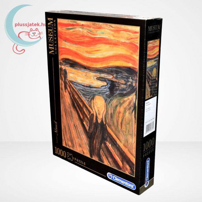 Edvard Munch - A sikoly (The Scream) 1000 db-os puzzle, Clementoni Museum Collection 39377, jobbról