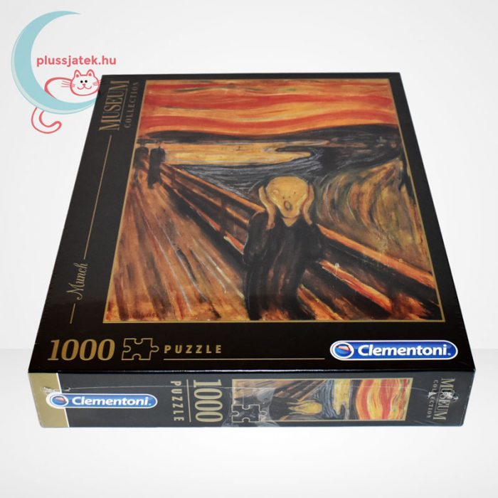 Edvard Munch - A sikoly (The Scream) 1000 db-os puzzle, Clementoni Museum Collection 39377, oldalról