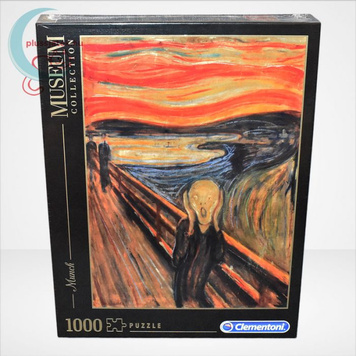 Edvard Munch - A sikoly (The Scream) 1000 db-os puzzle, Clementoni Museum Collection 39377, szemből