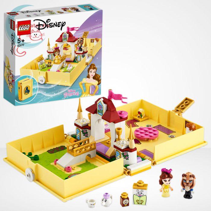 LEGO® Disney 43177 - Belle mesekönyve, a doboz tartalma