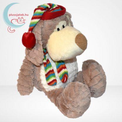 Merry Christmas karácsonyi sapkás-sálas plüss kutya