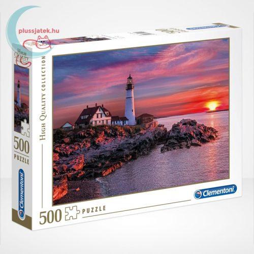 Portlandi világítótorony 500 db-os puzzle (Portland head light - Clementoni 35049)