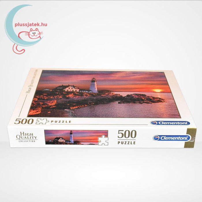 Portlandi világítótorony 500 db-os puzzle (Portland head light - Clementoni 35049), oldalról
