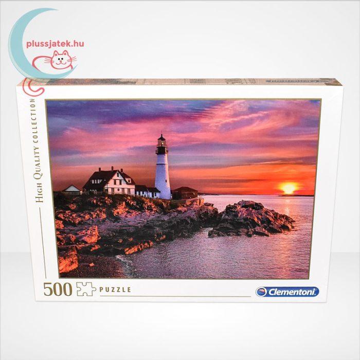 Portlandi világítótorony 500 db-os puzzle (Portland head light - Clementoni 35049), szemből