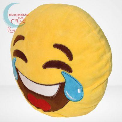 Sírva nevetős emoji plüss párna, balról