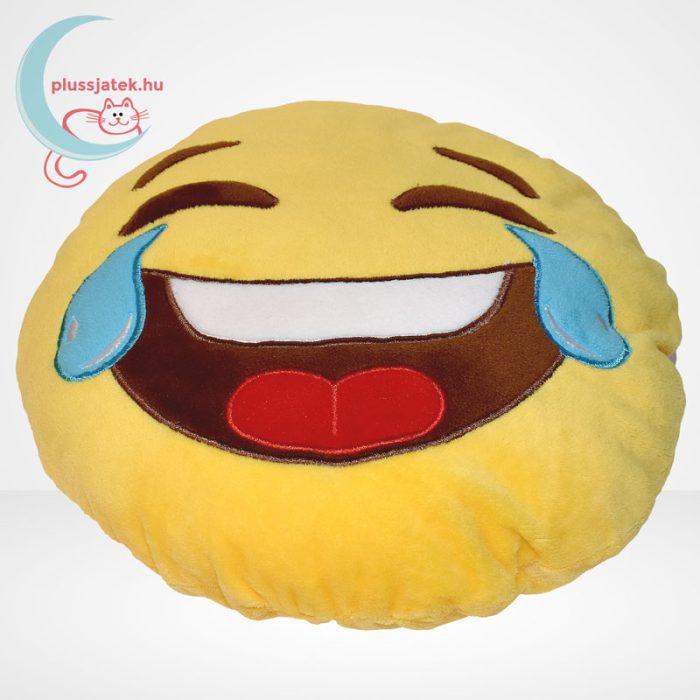 Sírva nevetős emoji plüss párna, felülről