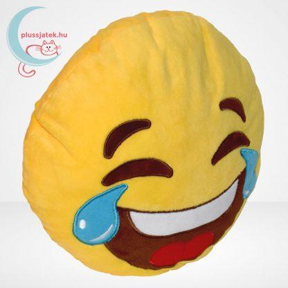 Sírva nevetős emoji plüss párna, jobbról