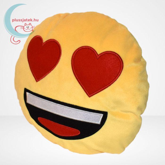 Szerelmes plüss emoji párna, balról