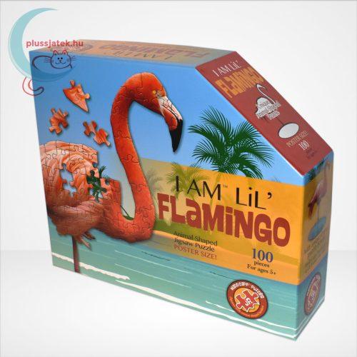 Wow poszter méretű forma puzzle - Flamingó, 100 db