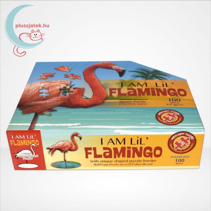 Wow poszter méretű forma puzzle - Flamingó, 100 db, oldalról
