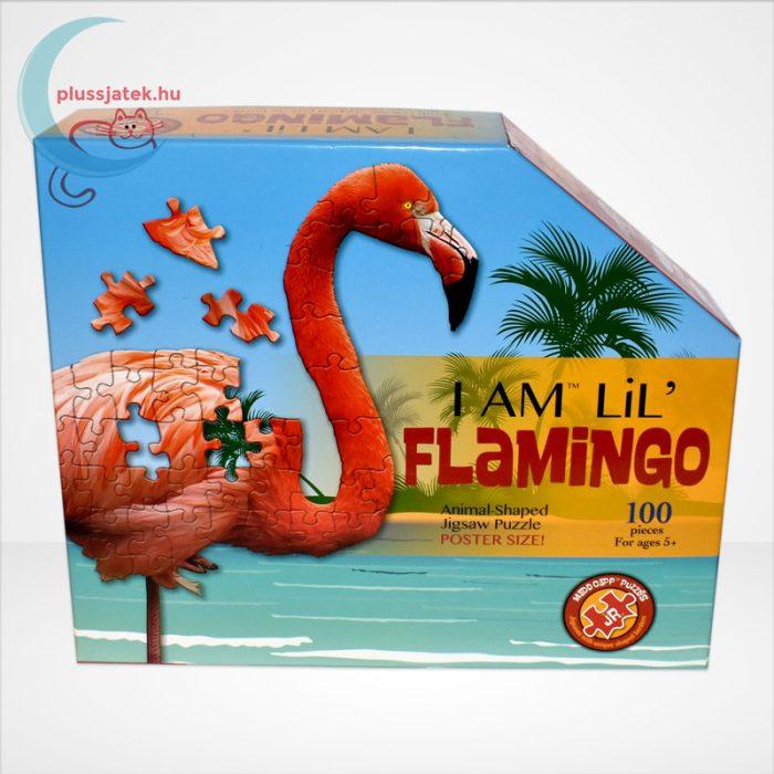Wow poszter méretű forma puzzle - Flamingó, 100 db, szemből