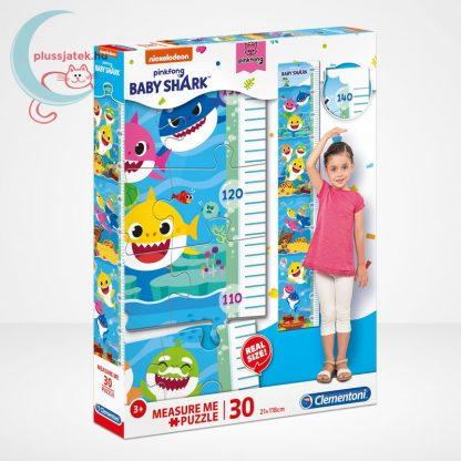 Baby Shark: Mérj meg! magasságmérő 30 db-os Clementoni puzzle (20340)