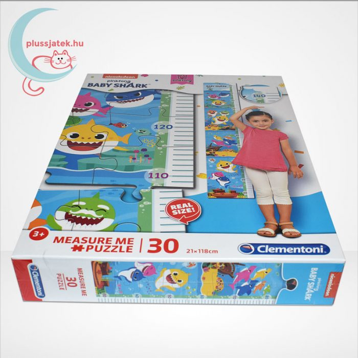 Baby Shark: Mérj meg! magasságmérő 30 db-os Clementoni puzzle (20340), oldalról