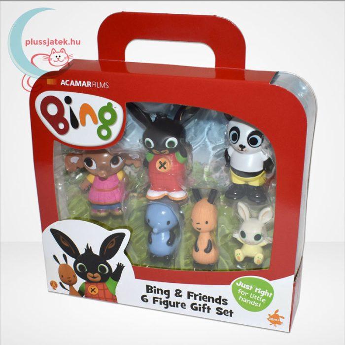 Bing és barátai 6 db-os műanyag figura szett díszdobozban, balról