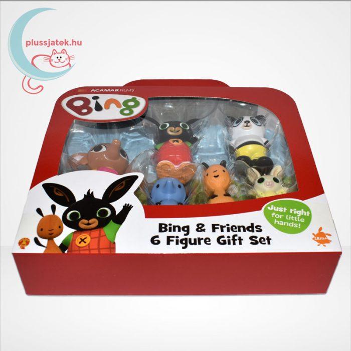 Bing és barátai 6 db-os műanyag figura szett díszdobozban, oldalról