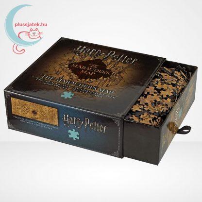 Harry Potter: Tekergők térképe 1000 darabos puzzle, a doboz és kirakók