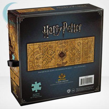 Harry Potter: Tekergők térképe 1000 darabos puzzle, a doboz hátoldala