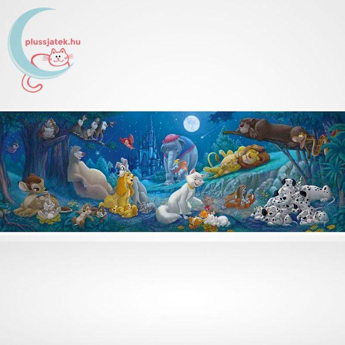 Klasszikus Disney mesehősök 1000 db-os panoráma puzzle (Clementoni, 98930), a kép
