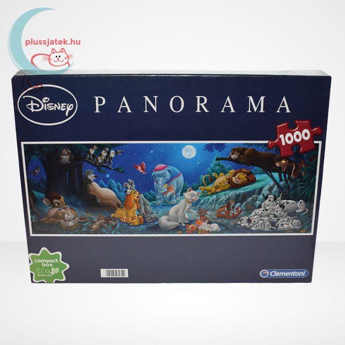 Klasszikus Disney mesehősök 1000 db-os panoráma puzzle (Clementoni, 98930), szemből