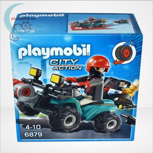 Playmobil - Műkincsrabló szuper quadján, csörlővel (City Action 6879)