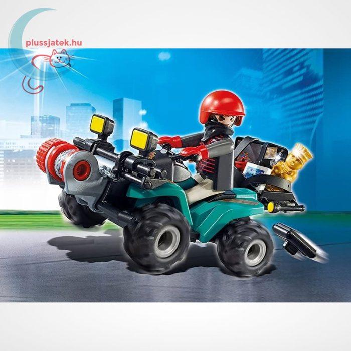 Playmobil - Műkincsrabló szuper quadján, csörlővel (City Action 6879), a doboz képe