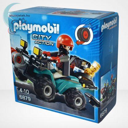 Playmobil - Műkincsrabló szuper quadján, csörlővel (City Action 6879), balról