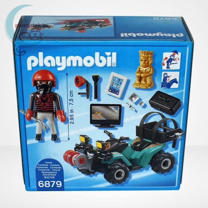 Playmobil - Műkincsrabló szuper quadján, csörlővel (City Action 6879), hátulról